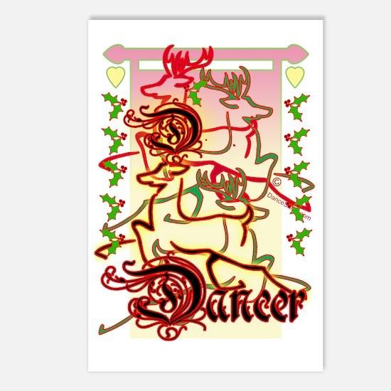 reinder dancer 3a copy Postcards (Package of 8)