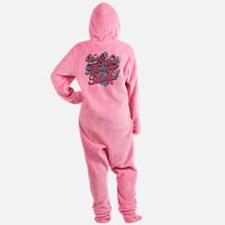 worlds most awesome mum Footed Pajamas