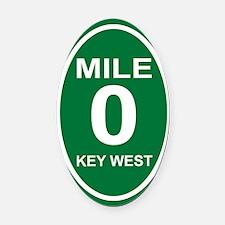 milezerokeywestovals2010cpORN Oval Car Magnet