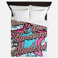 Worlds Most Awesome Student Queen Duvet