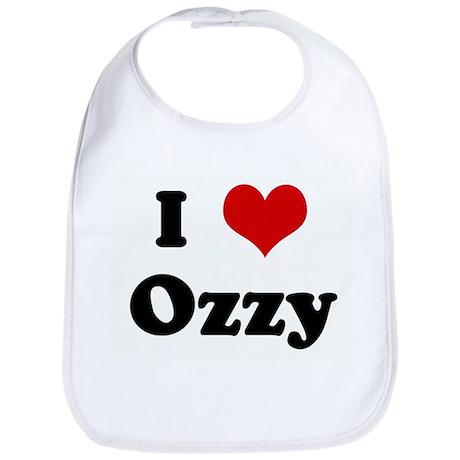 I Love Ozzy Bib