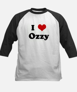 I Love Ozzy Kids Baseball Jersey