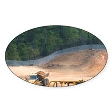 Bulldozer being used for road const Decal