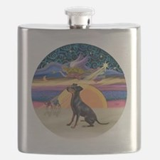 R - Xmas Star - Manchester Terrier Flask