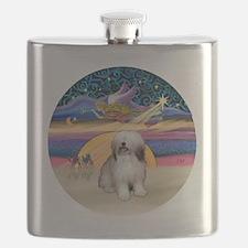 R - Xmas Star - Polish Lowland Sheepdog 1 Flask