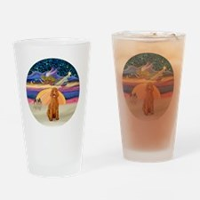 Xmas Star - Apricot Standard Poodle Drinking Glass