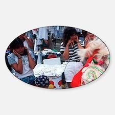 Chinatown. Festivities honoring Nat Sticker (Oval)