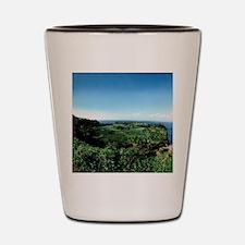 Ke'anae Peninsula unchanged Tropical Pa Shot Glass