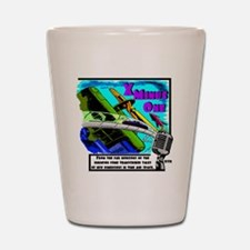 x minus one color Shot Glass
