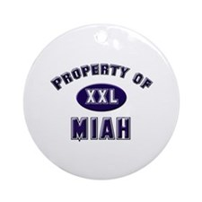 Property of miah Ornament (Round)