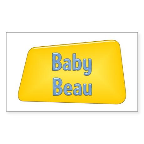 Baby Beau Rectangle Sticker