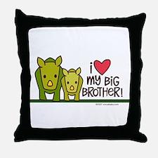 Big Brother Rhino Throw Pillow