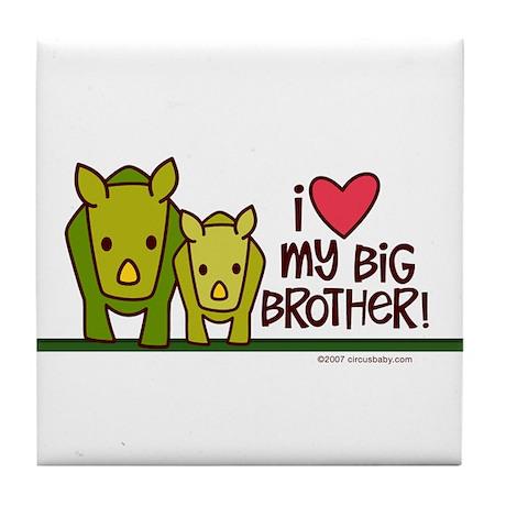 Big Brother Rhino Tile Coaster