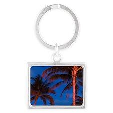South Beach Palms / EveningSout Landscape Keychain