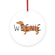 weenie dog dachshund Ornament (Round)