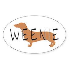 weenie dog dachshund Oval Decal