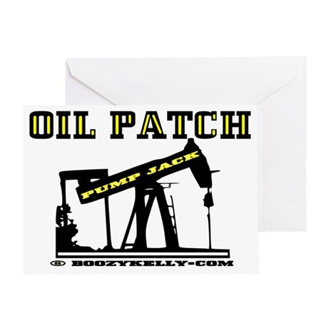 Oil Jack A4dd trsp Greeting Card