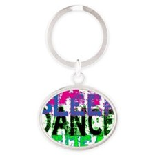 eat sleep dance repeat 3 copy Oval Keychain
