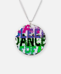 eat sleep dance repeat 3 cop Necklace