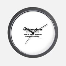 Ambidancetrous Wall Clock