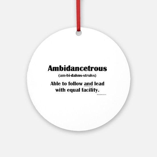 Ambidancetrous Ornament (Round)