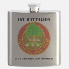 1-5TH FIELD ARTILLERY RGT WITH TEXT Flask