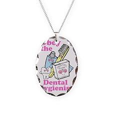 obeydentalhygienists Necklace Oval Charm