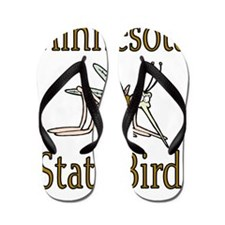 Minnesota State Bird copy Flip Flops