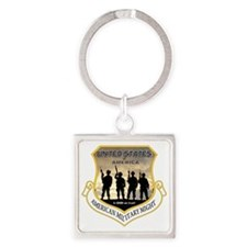 mILITARY mIGHT Square Keychain