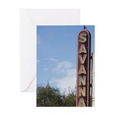 The Historic Savannah Theatre, the o Greeting Card