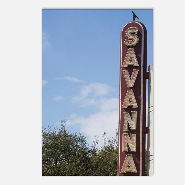 The Historic Savannah The Postcards (Package of 8)