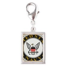 Navy-Logo-Black-White-Gold Silver Portrait Charm