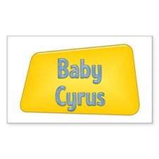 Baby Cyrus Rectangle Decal