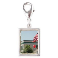 4th of July parade in Cascad Silver Portrait Charm