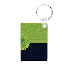 443_iphone_limegreendenim Keychains
