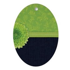 443_iphone_limegreendenim Oval Ornament