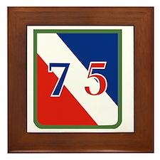 75th ID Framed Tile