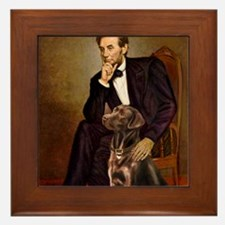 MP-Lincoln - Chocolate Labrador 11-c Framed Tile