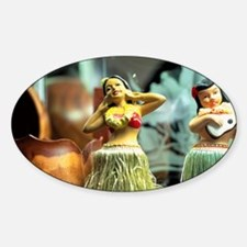 Hula Dolls Hawaii doll Decal