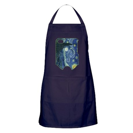 Starry Night iphone 4_case Apron (dark)