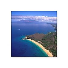 "Makena Beach, Makena, Maui, Square Sticker 3"" x 3"""