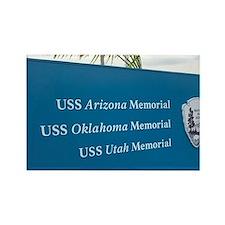 Sign for battleship memorials at  Rectangle Magnet