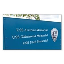 Sign for battleship memorials  Decal