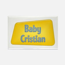Baby Cristian Rectangle Magnet