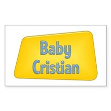 Baby Cristian Rectangle Decal