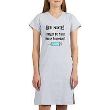 Be Nice - Nurse Women's Nightshirt