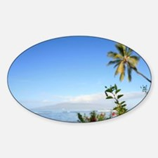 Red Hibicus, Lahaina, Maui, Hawaii Decal