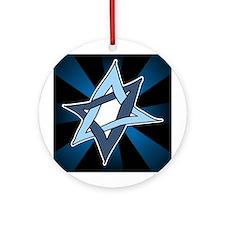 Star of David Hanukkah Mitzvah Ornament (Round)