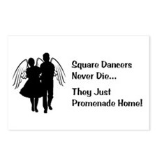 Square Dancers Never Die Postcards (Package of 8)