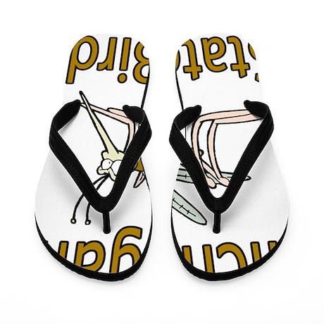 Michigan State Bird Flip Flops